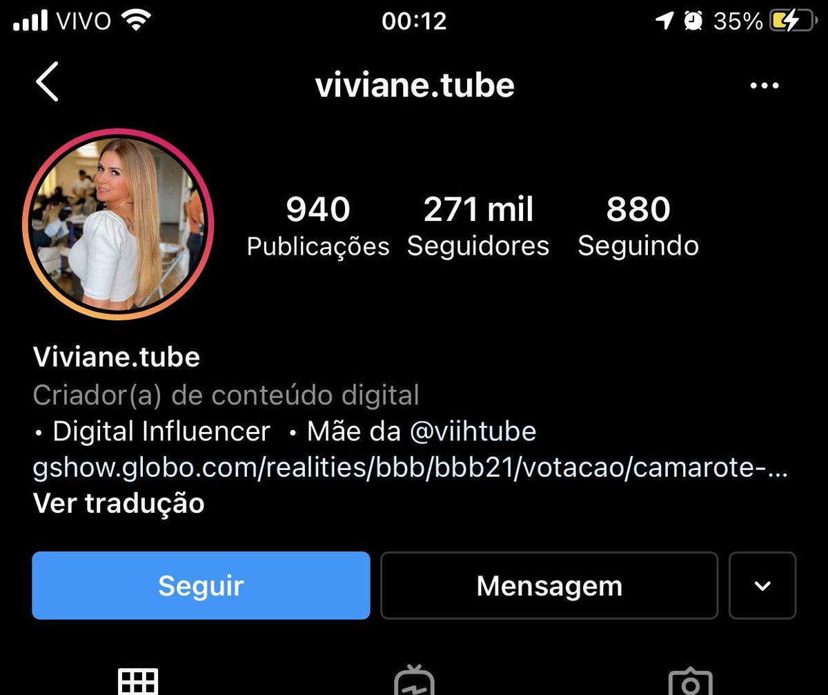ATENÇÃO:   A mãe da Viih Tube se intitula como VIVIANE TUBE
