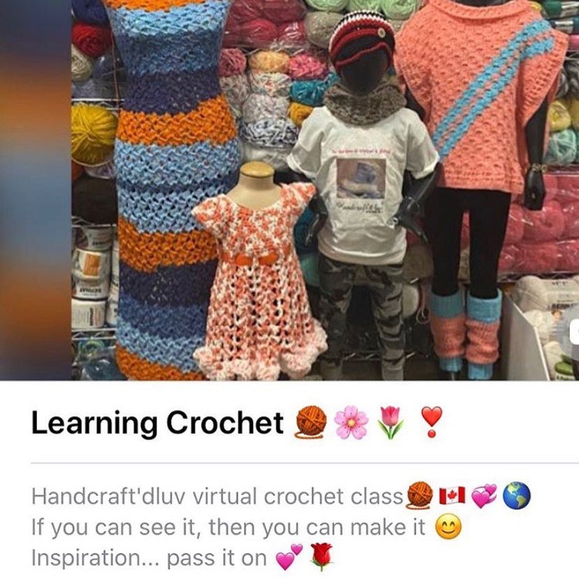 Play time 😁💕#learnsomethingnew  Wanna learn how to play with yarn the way I do ? 😜👇👇 Handcraft'dluv virtual crochet class. Registration is only open for a week 🤓 Send a dm for deets   #entrepreneur #teacher #crocheting   #mentoring  #yycliving #empowerment #Maker