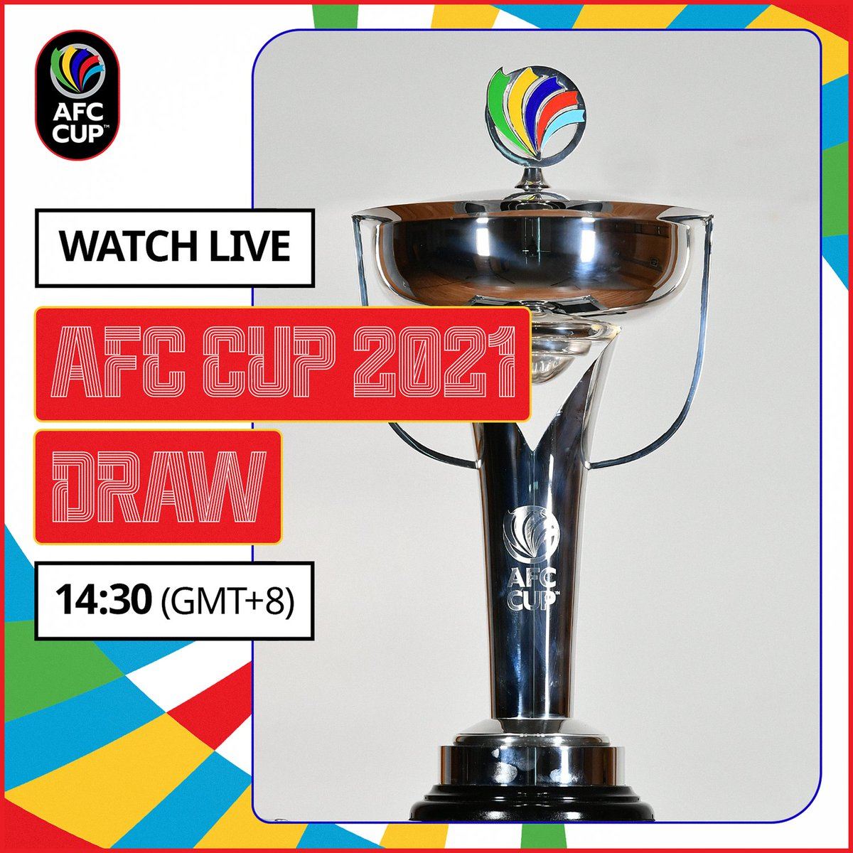 #AFCCup2021 Group Stage draw is today. Watch it live!  ⏰ 14:30 (GMT+8) 📺   Also available on Facebook and Instagram.