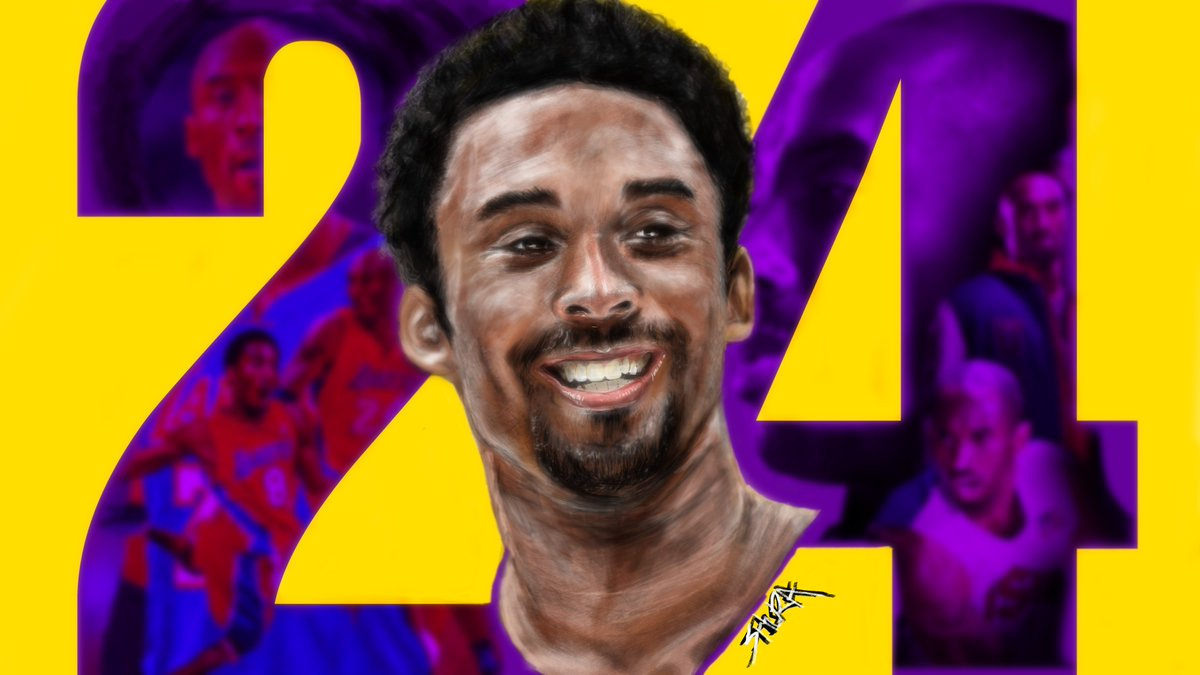 Something I drew last year can't believe how fast time flies by... T.T #KobeBryant #ArtistOnTwitter #illustration #RIP