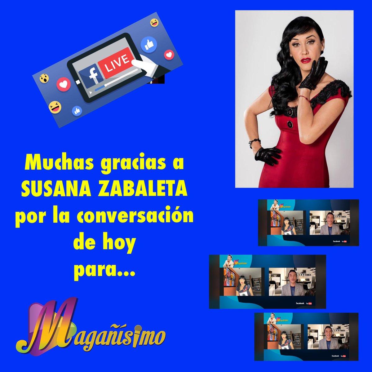 ❤️🖥 Muchas gracias a @SusanaZabaleta , por la conversación de hoy, en vivo de hoy, por Facebook en #magañisimo ❤️    🖥 #lovemyjob #happiness #journalist #people #happy #person #smile #pretty #man #portrait #star #smiling #happiness #confident