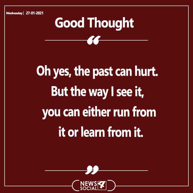Good Thought 27-1-2021 Wednesday  . . . #goodthoughts #motivation #positivevibes #goodvibes #motivationalquotes #thoughts #quoteofthedayy