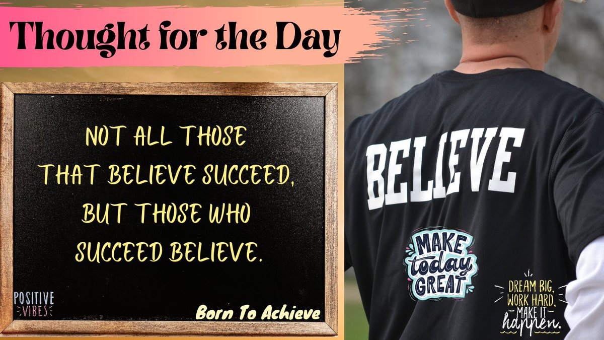 Keep believing Yourself !!  Explained -   #WednesdayMotivation #Believe #StayPositive #HappyLife #HappyMind #BornToAchieve #Motivational #Inspirational #Quotes #Thoughtfortheday  Join us @