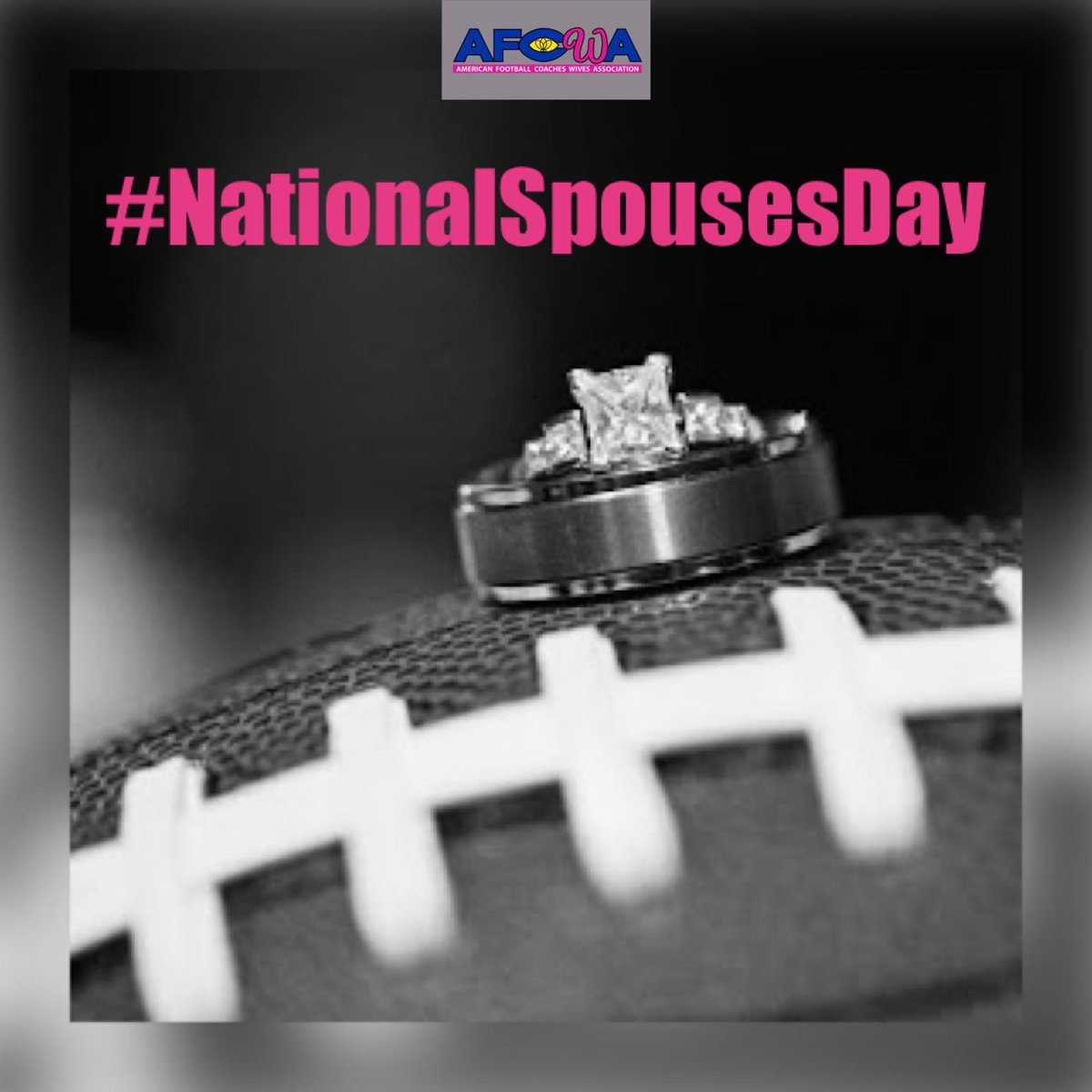 Since it's #NationalSpousesDay. . . . show us a favorite picture of you and your coach in the comments👇🏼(old or new)! Teamwork makes the dream work😉🏈💍❤️! #SpouseDay #footballwives #coacheswives #teamwork