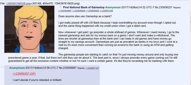 Does anyone else use GameStop as a bank?