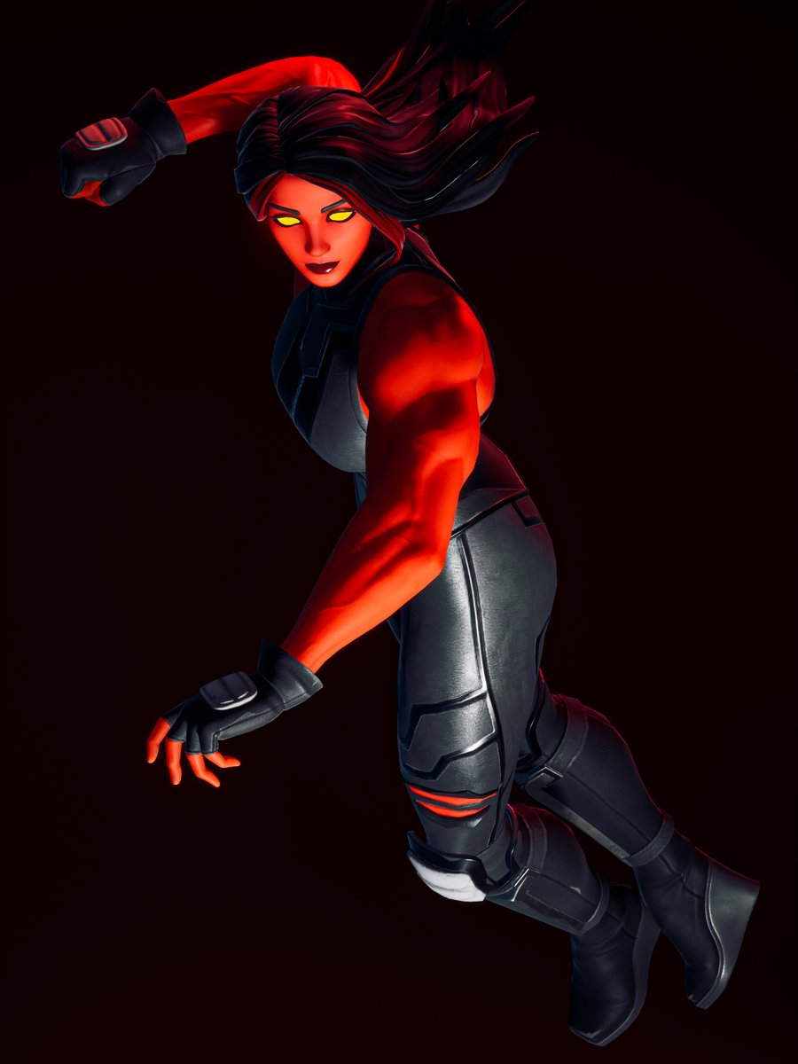 """The beautiful and muscular She Hulk Red, shot in @ChrisInSession's #Fortnite """"Studio 40"""", on a PC with a low to mid RTX.  Map code: 3187-9781-3272  #VGPUnite #Fortography #FortnitePhotography"""