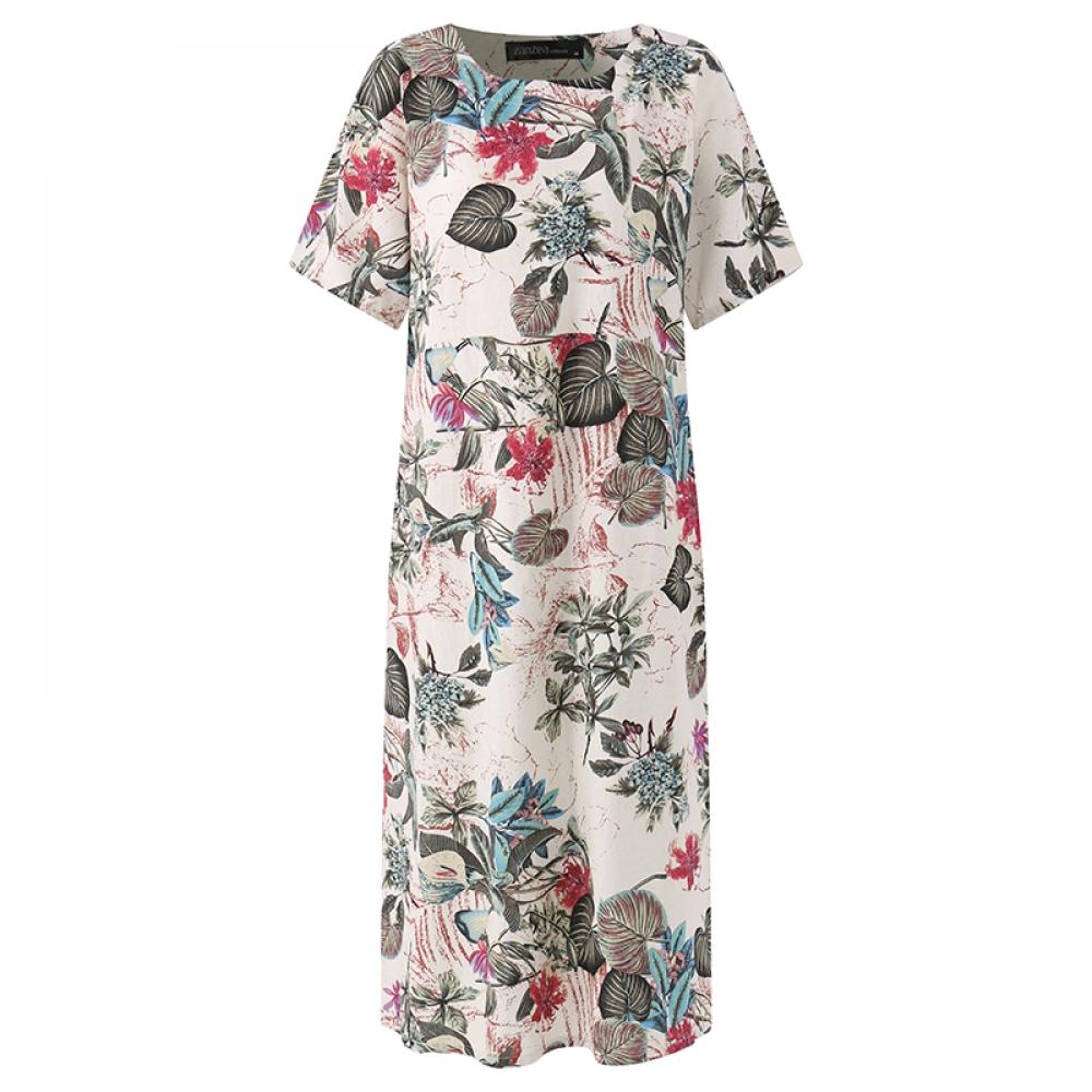 #shoes #pretty Women's Vintage Floral Printed Dress