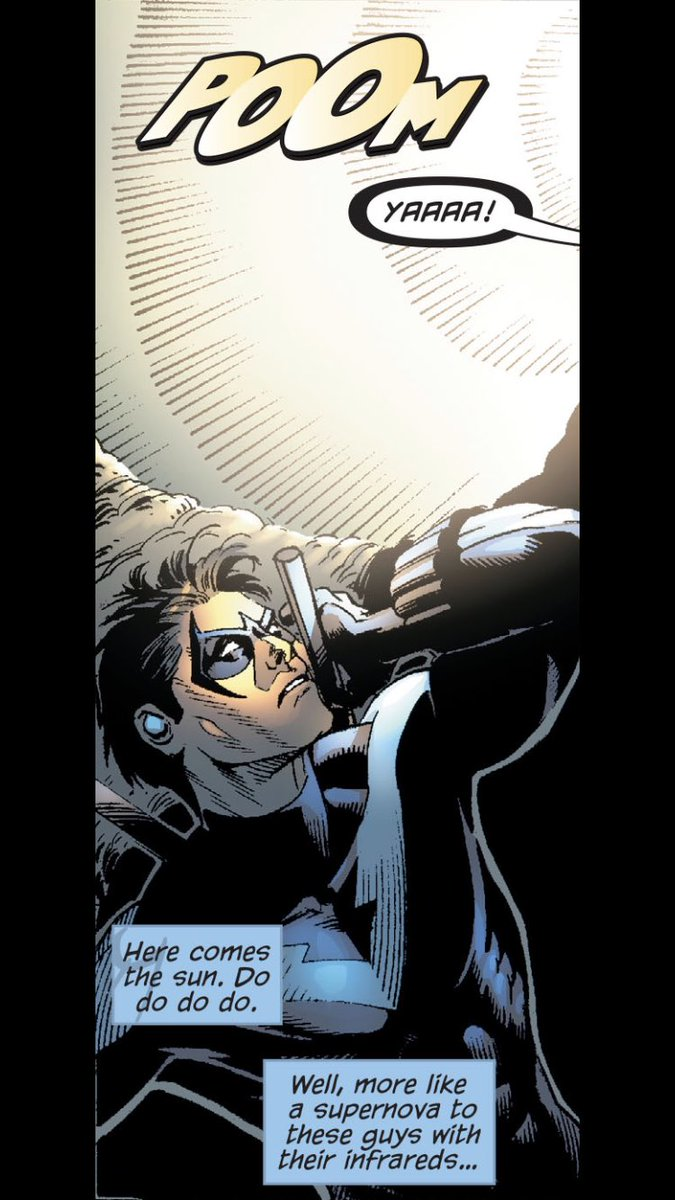 Okay... hey I'm awake now and I'm not okay with how bright my table lamp is. Freaking jerk being all bright and shiny #Nightwing #Dc #dccomics #comics #Blindedbythelight #funny #POOM