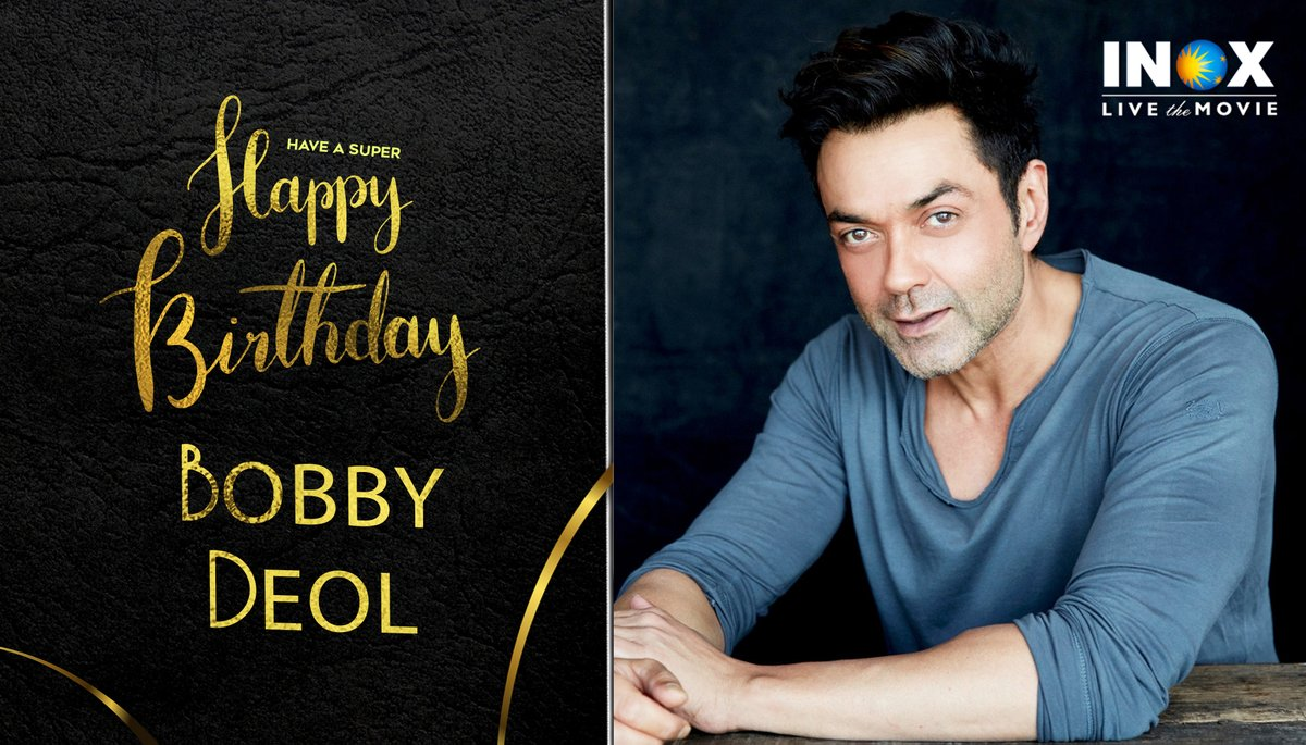 A very Happy Birthday to a powerful and handsome performer @thedeol    #HappyBirthdayBobbyDeol  #INOXWishes #INOXMovies    #INOXTrivia: Began his career as a child artiste in the movie Dharam Veer (1977), playing a young Dharmendra.