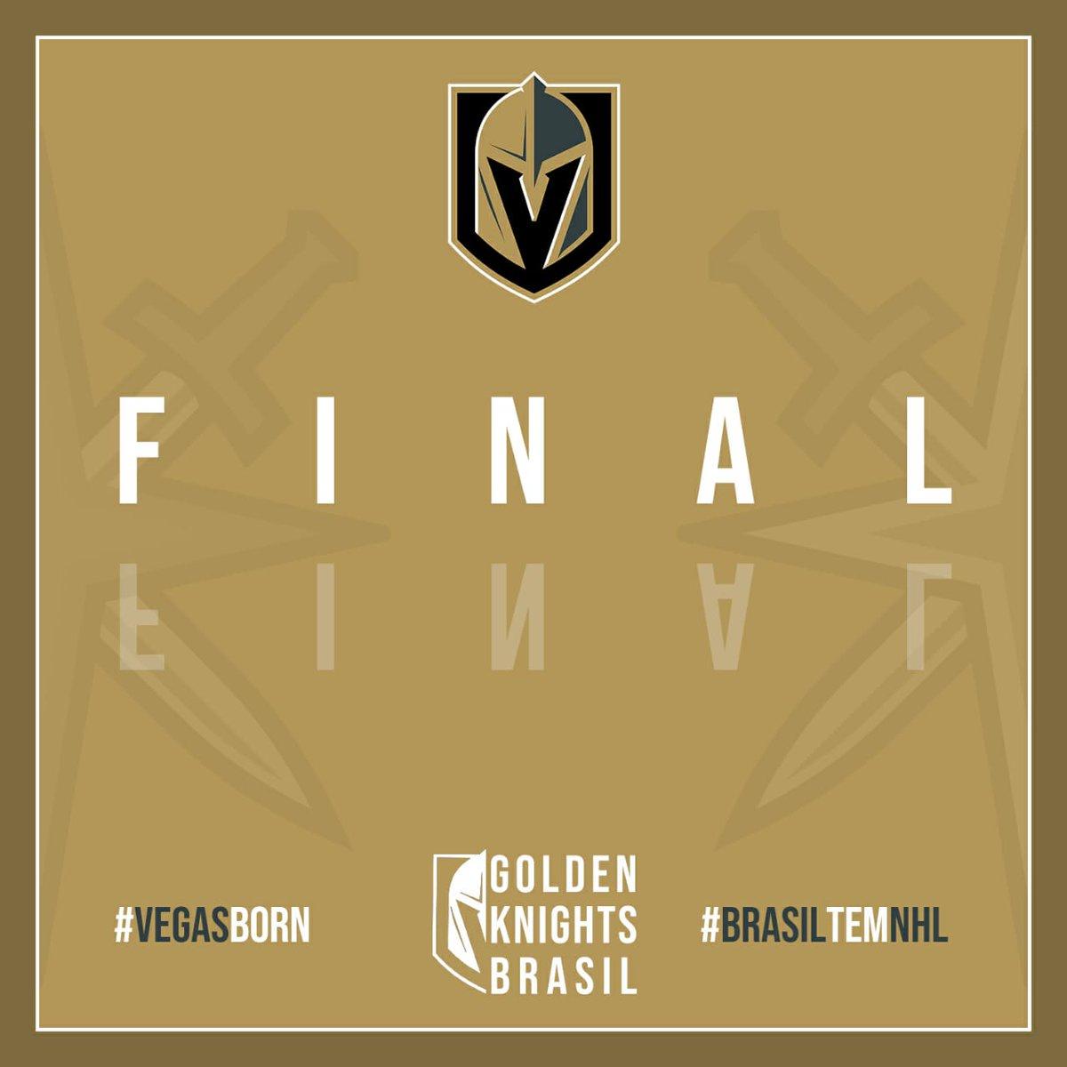 Vegas Golden Knights empata no tempo normal de 4-4 e perde no shootout para o @STLBluesBrazil (resultado final 4-5)   #VegasBorn #BrasiltemNHL