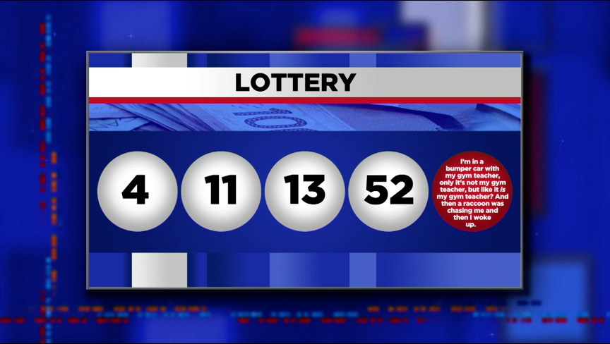A woman who won the lottery says she got the numbers from her husband's dream. Here are the numbers.