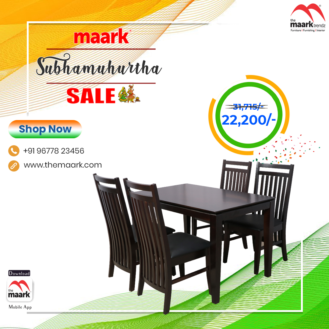 Make your family occasion more special with Maark Subhamuhurtha Sale. Dining Save upto 50% Enhance your lifestyle with The Maark. Visit : http//: to choose among 2000+ range.. or call : 9677823456 #Maark #dining#Subhamurtha Sale #Pongal