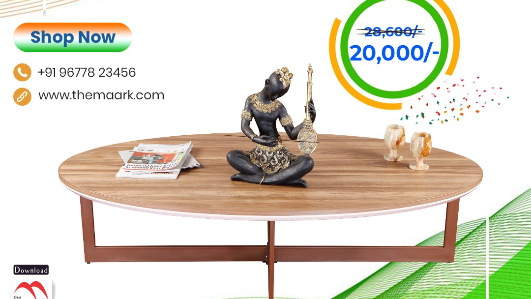 Make your family occasion more special with Maark Subhamuhurtha Sale. Center table Save upto 50% Enhance your lifestyle with The Maark. Visit : http//: to choose among 2000+ range.. or call : 9677823456 #Maark #centertable#Subhamurtha Sale #Pongal