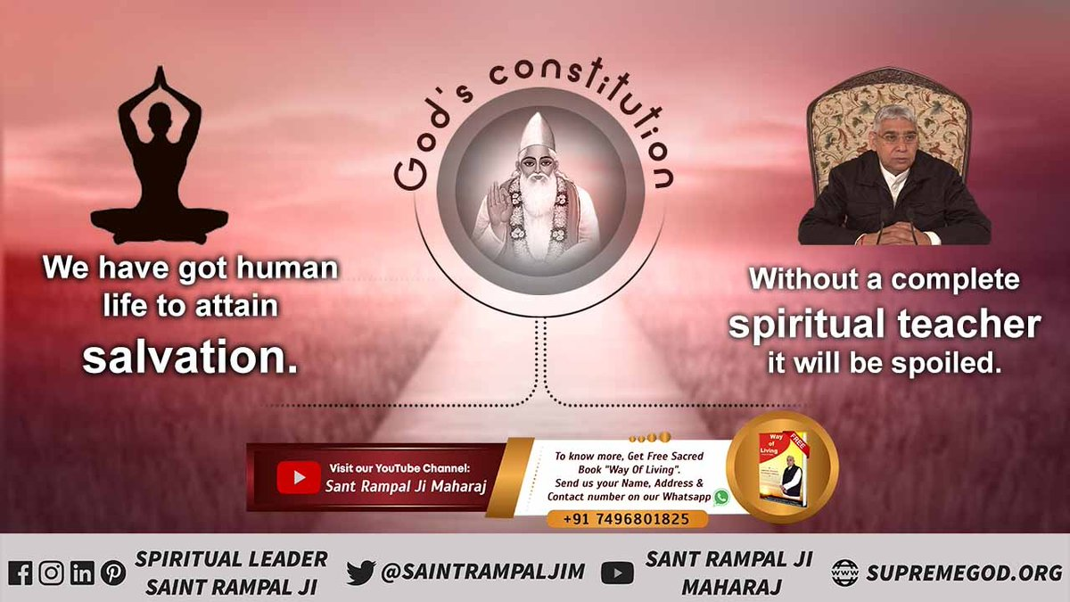 We have got human life to attain salvation. Without a complete spiritual teacher it will be spoiled. #wednesdaythought #GodMorningWednesday