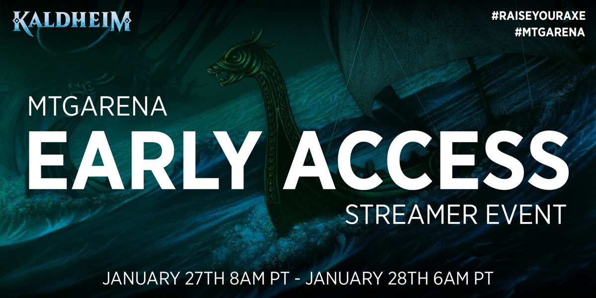 I'm so excited, it's that time again tomorrow! Tomorrow I was invited by Wizards and given a special preview account to stream and be in the #MTGKHM Early access event. I will be streaming it: 8am-10am and after work at 8:30pm PST.  #sponsored #teamAether @manatutors
