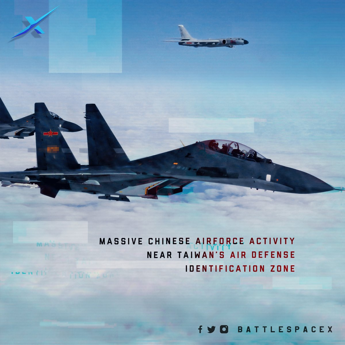 Massive #Chinese #Airforce activity near Taiwan's Air Defense Identification Zone  #Taiwan #China #Airforce #UnitedStates #BattlespaceX #ChineseGovt #PLA #PLAAF #ChineseAirforce #TaiwanAirforce #Asiapacific #SouthChinaSea #ChineseNavy #USNavy #China #India #SouthAsia #Military