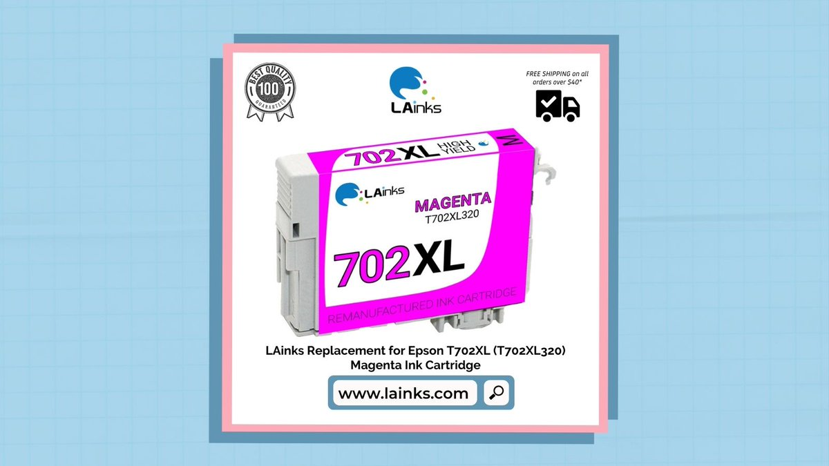 #TopSelling #products on @lainks_com #LAinks #Replacement for #Epson T702XL (T702XL320) Magenta #InkCartridge Shop Now! 🌐 -  #Topselling #Bestseller #inks #inkcartridges #toner #officesupplies #tonercartridges #printercartridges #cartridges #inktoner #USA