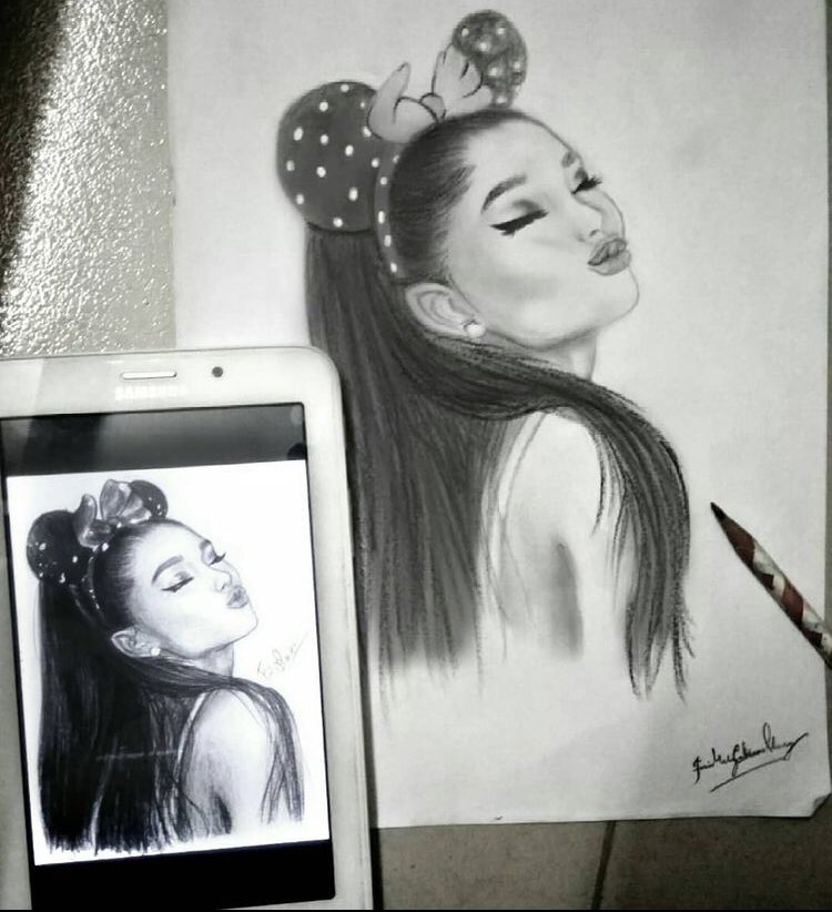 Ariana pouts!😙 • • • 🎨 💋 #ariana #arianagrande #grande #toptags #ari #beautiful #pretty #cute #gorgeous #art #toptags #artist #artistic #artgram #artlovers #myart #artwork #artlife #draw #drawing #painting #paint #toptags #drawings #sketch #drawn @ArianaGrande