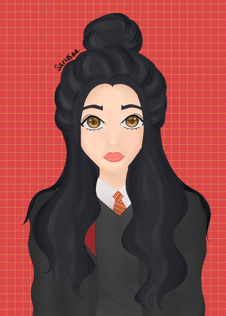 Finished! I'm off to Hogwarts ❤️ #Gryffindor #HarryPotter #hogwarts #digitalart #OC #procreate #procreateart #portrait #art #ipadpro