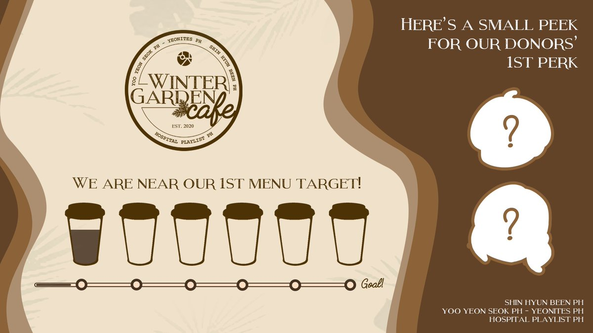We are excited to announce that we are almost filling up our first cup and near our first menu target! A little sneak peek of the perks our donors will get once we reach our first target Check on the details below to donate and lets make this project happen! twitter.com/YooYeonSeokPH/…