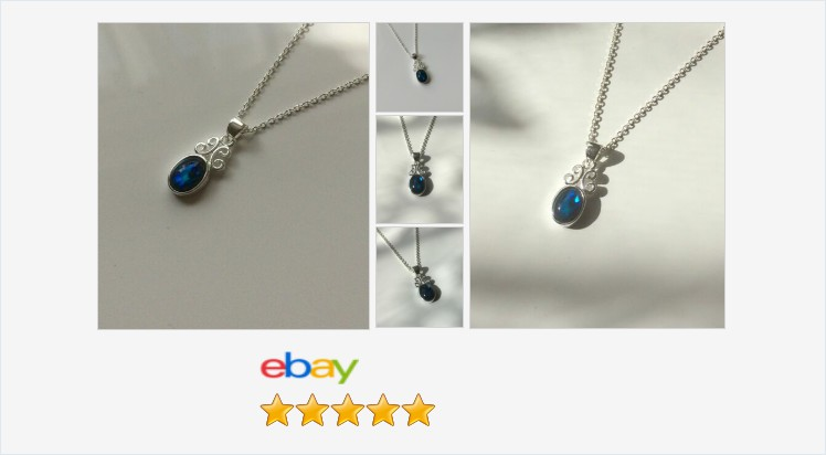 Brand New 925 Sterling Silver and Blue Abalone Small Scroll Pendant Necklace | eBay #sterlingsilver #blue abalone #paua #shell scroll #pendant #necklace #handmade #jewellery #gifts #giftideas #giftsforher #jewelry #pretty #beauty #fashion #jewelrylover