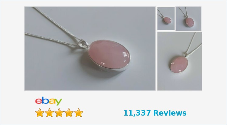 Brand New 925 Sterling Silver Plain 25 x 18mm Rose Quartz Pendant Necklace | eBay #sterlingsilver #rose #rosequartz #pink #large #pendant #neckalce #handmade #gifts #jewellery #giftideas #giftsforher #beauty #fashion #giftshop #jewelry #UKHashTags #ebay