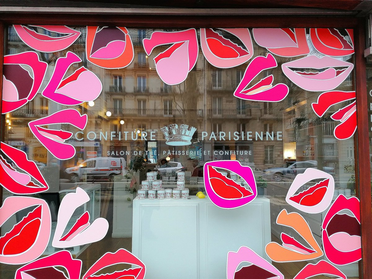 Creative Parisian home made jam showcase #mouth #KISSES #Pink #parisfunk #parisjetaime #shop