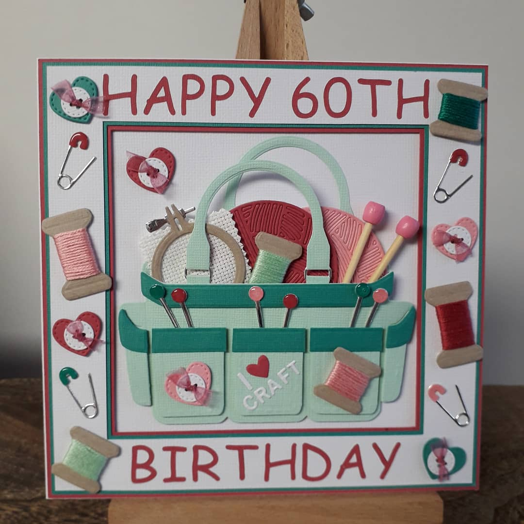 Happy birthday wishes to my close friend and ex work colleague Karen. Celebrating a big birthday today, had to be a craft related card 🤣  @officialcricut  @crafterscompuk  @CricutUK @Hobbycraft_WAT #crafting #birthday #60thbirthday  #handmade #diecutting  #happycrafting