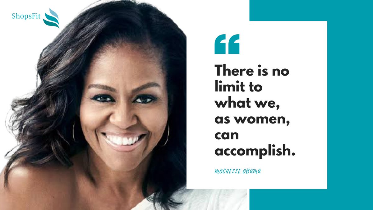 Our #WCW for this week is Michelle Obama. Moral lesson - No matter what the society and its minions do and say, you are strong and capable. Have a wonderful day!  #shopsfit #WCWednesday #wednesday #wednesdaythought  #women #womenontop