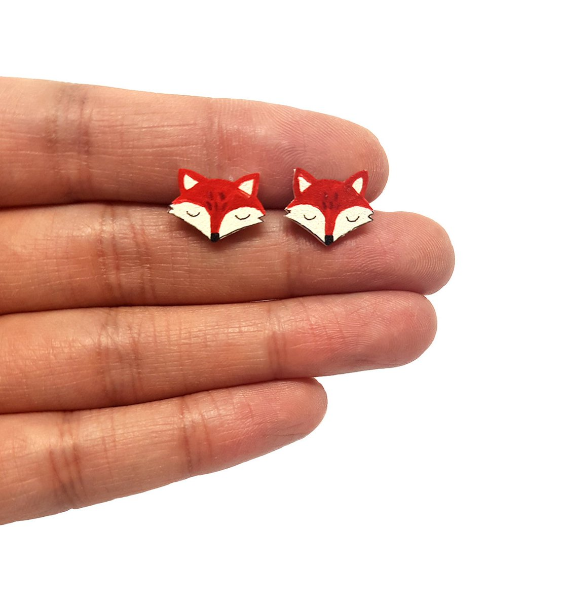 Morning #elevenseshour How are you? I am busy restocking my shop and it includes this pair of cute fox earrings! More animals in stock.  #handmade #shopsmall #etsy #wednesdaythought #SmallBusiness #jewelry #gifts #earrings #fox #animals