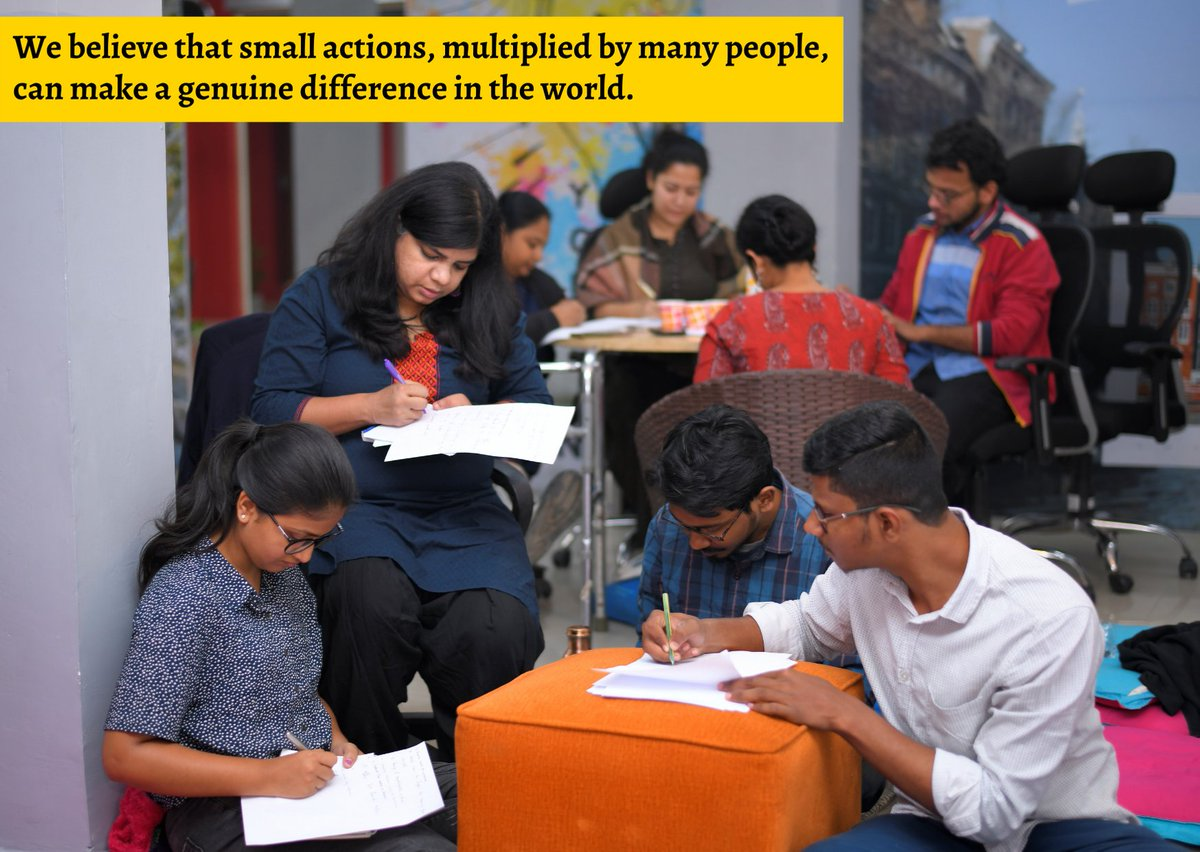 #Throwbackmemories  We believe that small actions, multiplied by many people, can make a genuine difference in the world.  #wednesdaythought