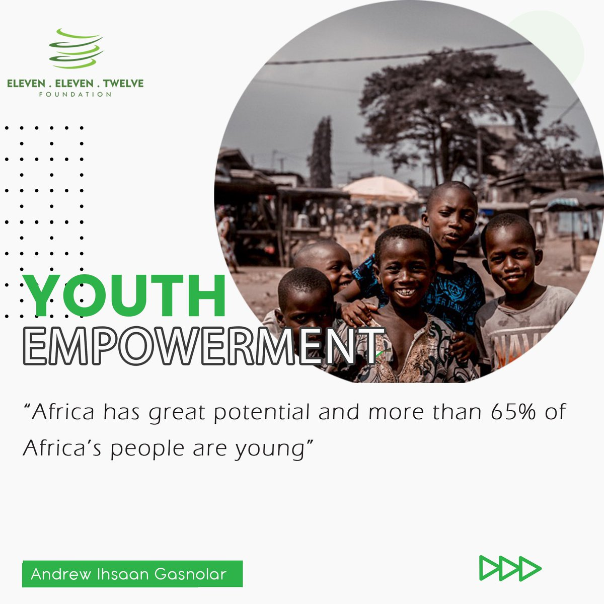 This is the message we bring today; tell me why you would not want to invest in our youths; the ones with d ideas, d creativity, d potentials to solve the challenges we face today? 🤷🏾♀️   Let us keep pushing, investing & supporting our #youths.   @IhsaanRSA   #wednesdaythought