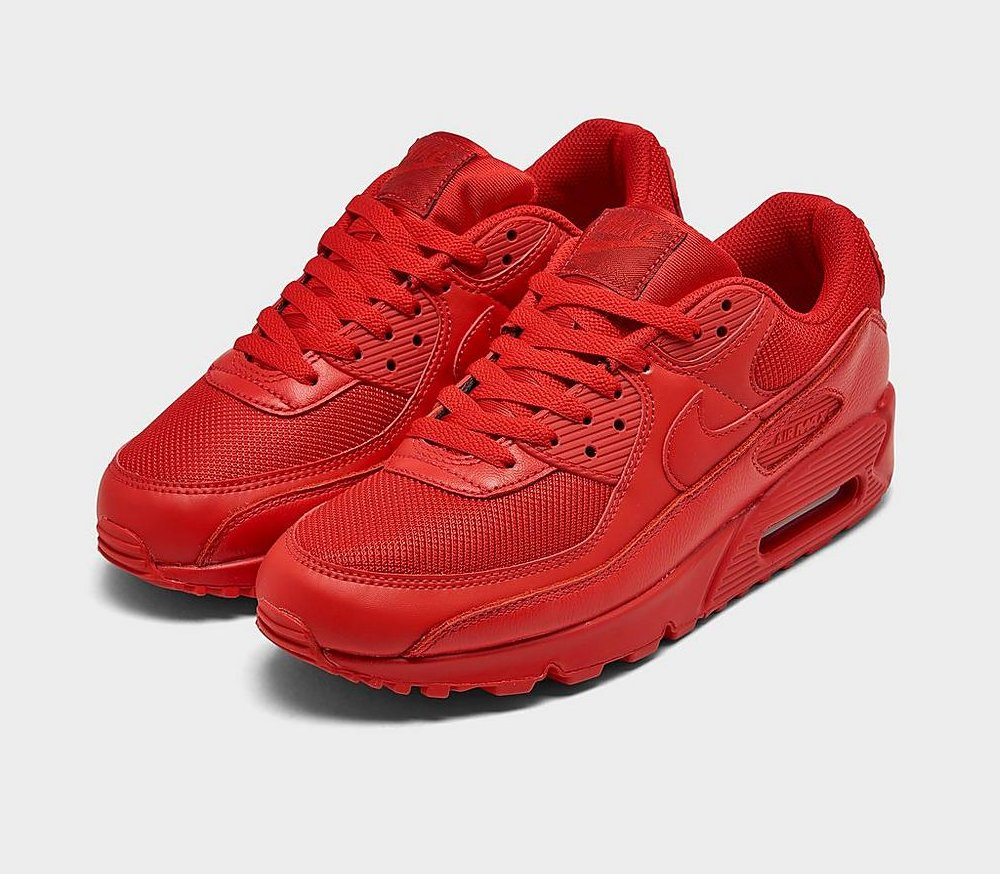 #ad The Nike Air Max 90 'Triple Red' is now available via @FinishLine for $110! (use code NEWYEARWHODIS - retail $120) #SneakerScouts @Nike