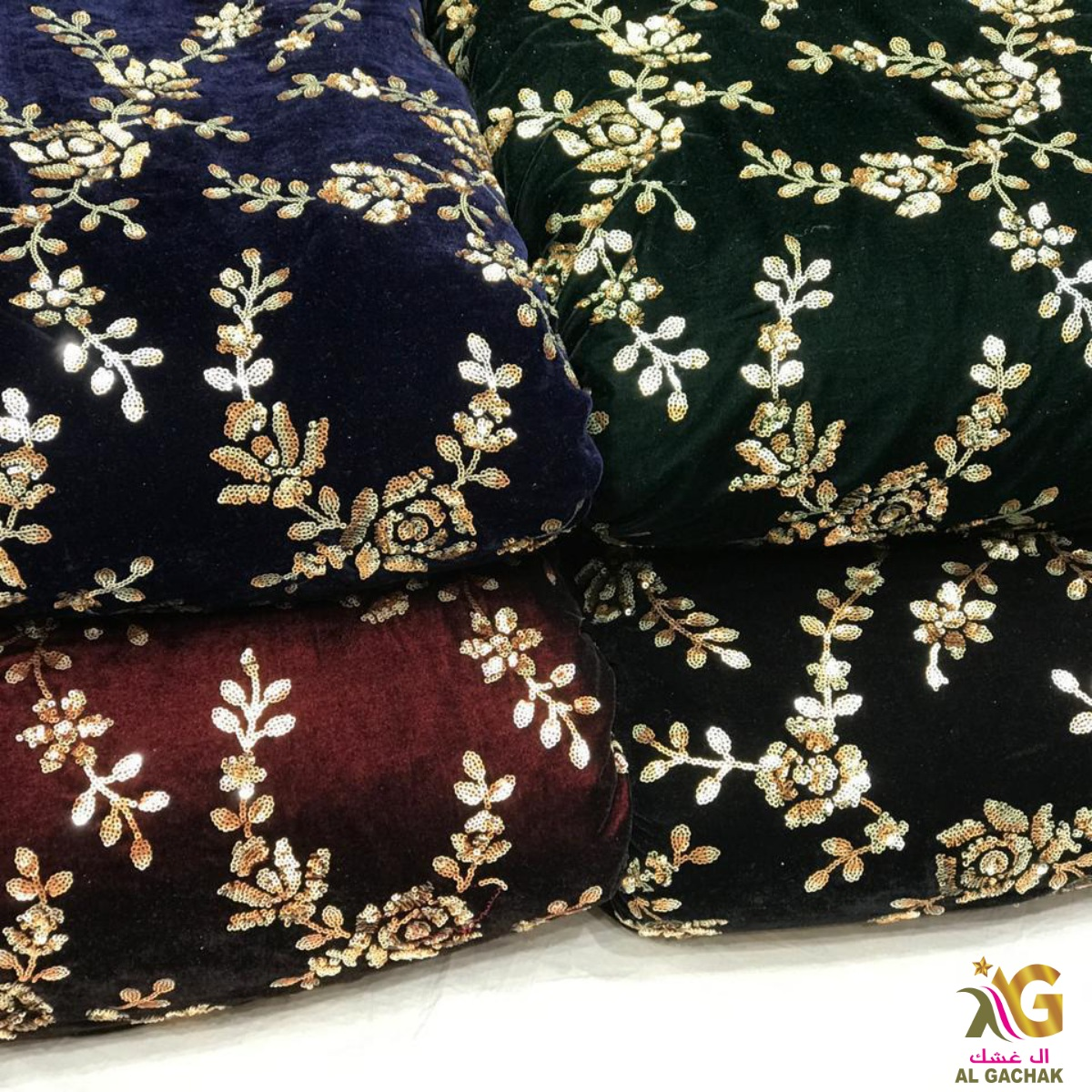 """Buy Latest Collection Of Silk Velvet Embroidery Fabric 😍 Width:44"""" inch Price :Approx 5.75 BHD/mtr MOQ:14 Meter Dealing in wholesale & for #boutique use! #l4l #F4F #Bahrain #boutiqueshopping #Like #fashiondesigner #follo #ClothingBrand #Clothing #clothingline #fabrics #fabric"""