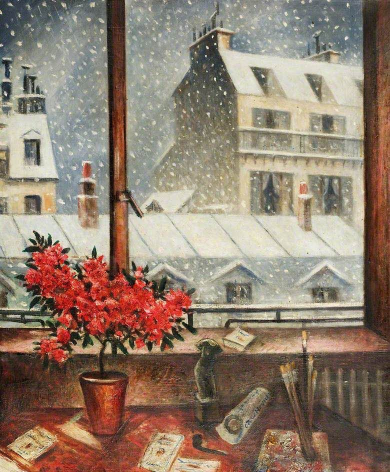 Winter Time  Christopher Richard Wynne Nevinson (British, 1889–1946) oil on canvas #Winter