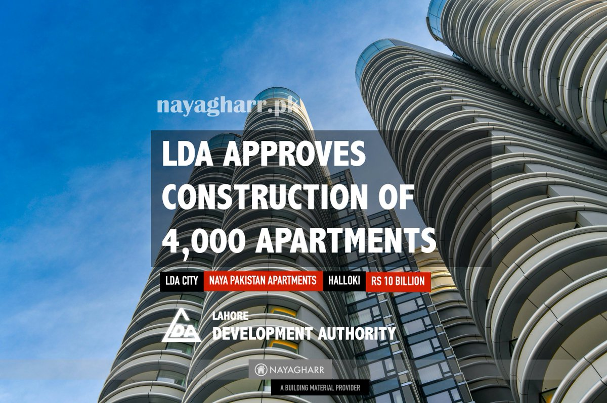 Naya Pakistan Project: LDA seeks approval for construction of 4000 apartments   #realestate #construction #builders #pakistan #government #lda #project #apartments #architecture