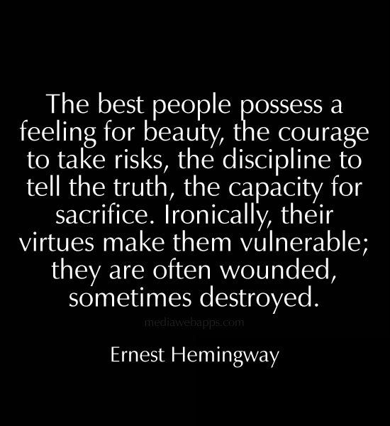 The best people possess a feeling for beauty, the courage to take risks, #quotes https://t.co/RxXEykYBXZ https://t.co/lSlYwSP6VC
