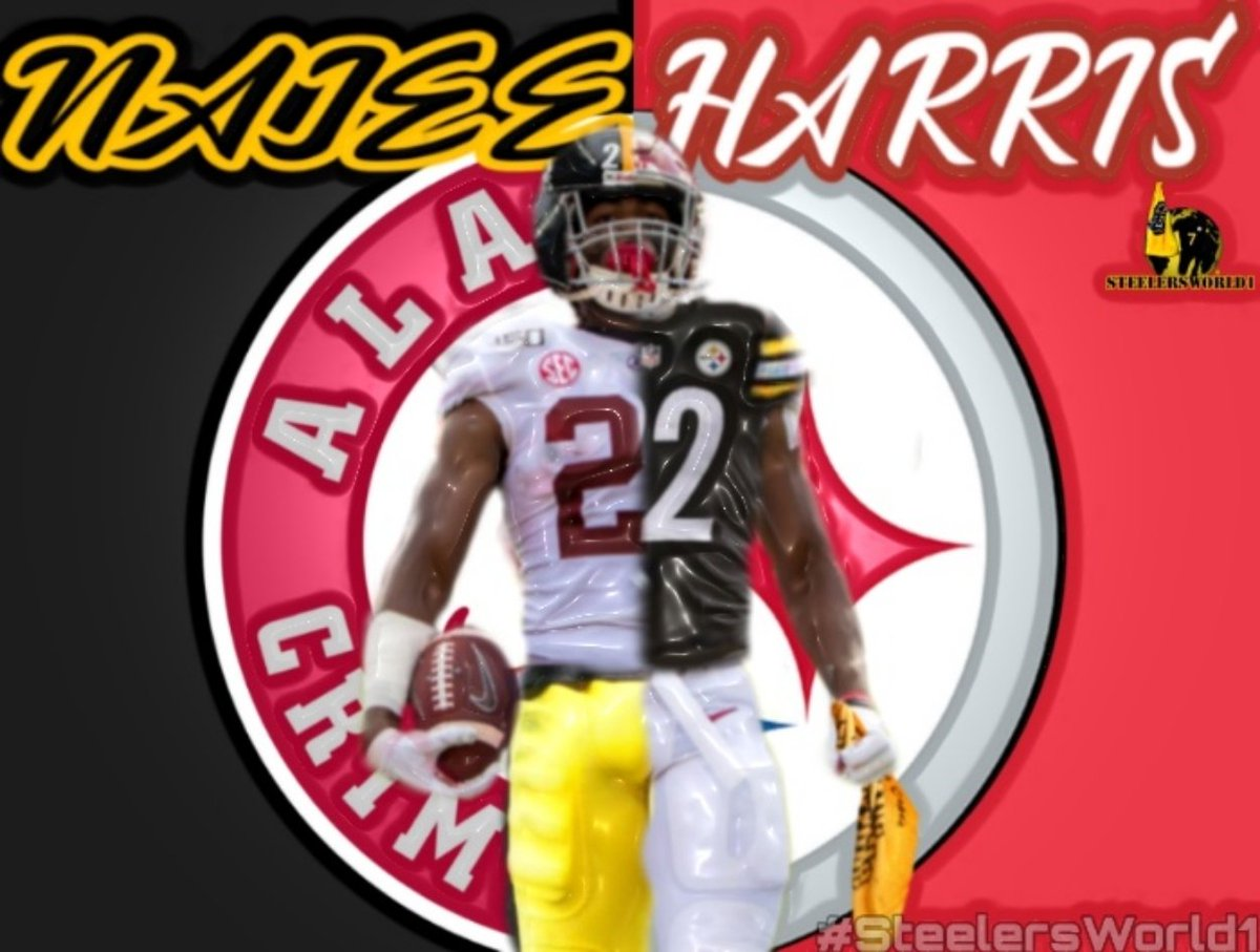 "2021 NFL DRAFT: I am lobbying for Alabama running back, Najee Harris to be drafted by the #Steelers. I can see a ""behind the scenes"" trade or two to make it happen. #HereWeGo a #SteelersWorld1© creation"