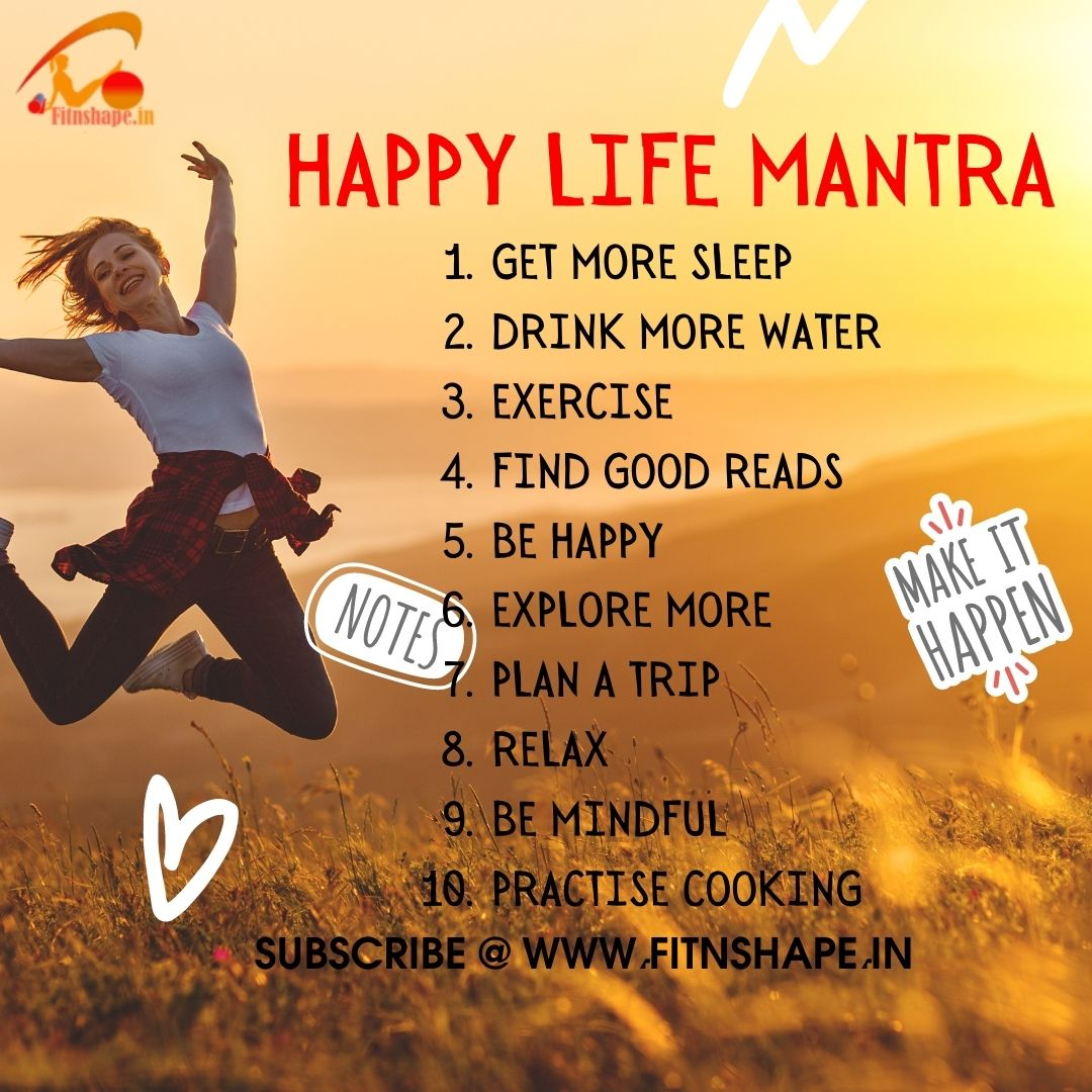 🤗Make Your Life Happy & Peaceful... 👉Follow the Happy Life Mantra given below and🎯 Subscribe  for more fitness and nutrition tips.🎁 #fitness #happyness #LifeGoesOn #life #exercise #motivation