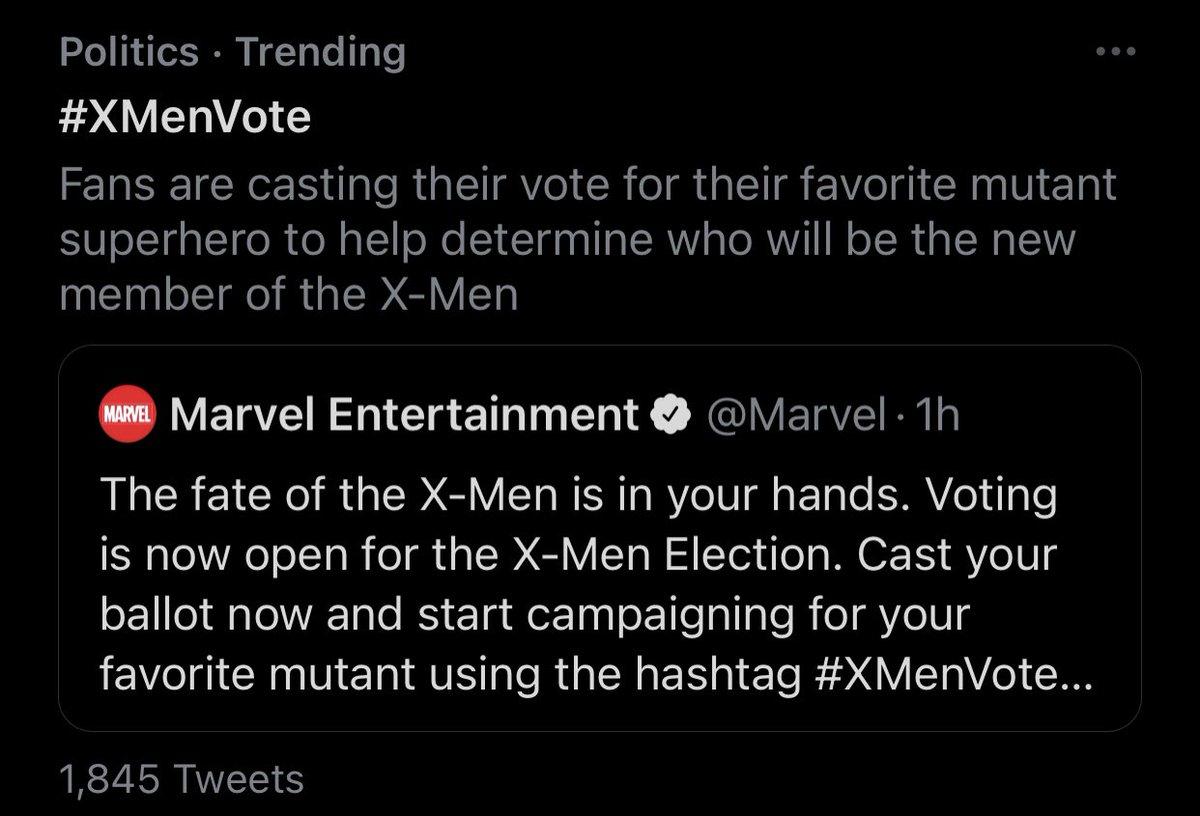 Not politics 😭😭 #XmenVote