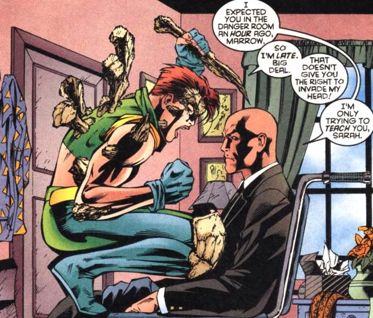 Vote for Marrow!  She had the the right idea about Professor X from the jump!  #XMenVote #VoteMarrow