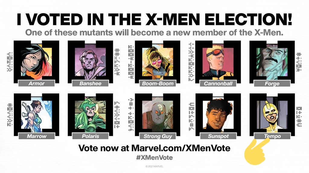 Help us support Tempo in the #XMenVote  She's great and has a lot of potential ! A lot of the other characters are on other teams and some of them have already been used a LOT