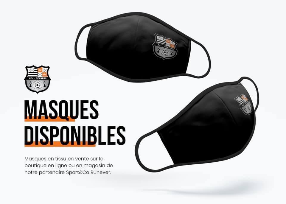 [#BOUTIQUE]  🦠 Protégez-vous et protégez les autres.  😷 Les masques aux couleurs du club sont déjà disponibles en boutique de notre partenaire SportandCo Fougeres !  En vente ici 👉    #TousEnsemble ⚫️⚪️