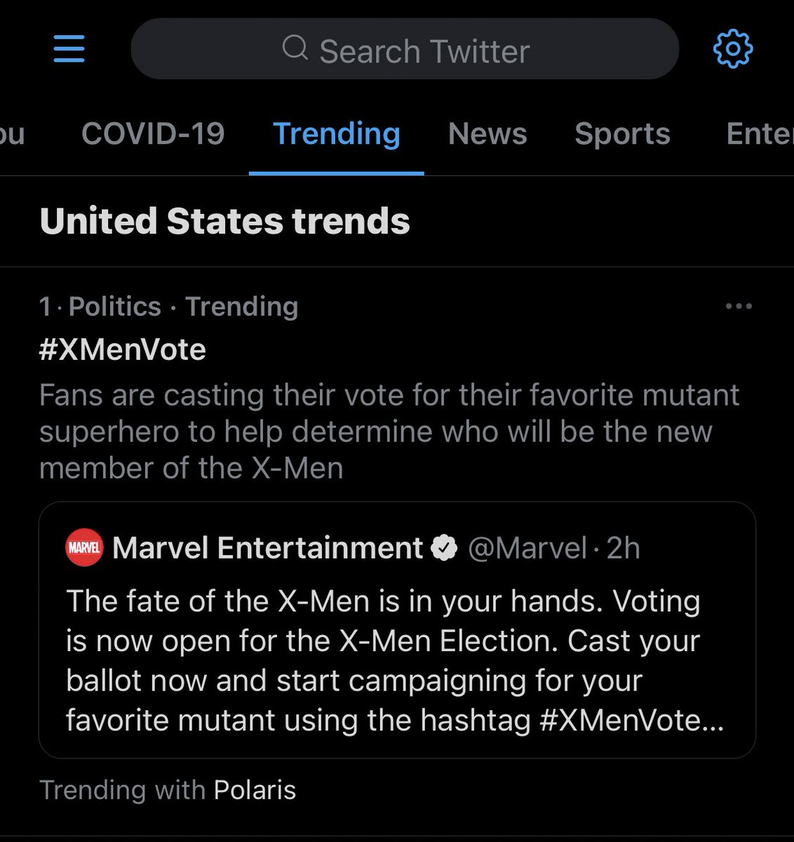 Wow, this is unexpected 😳 #XMenVote