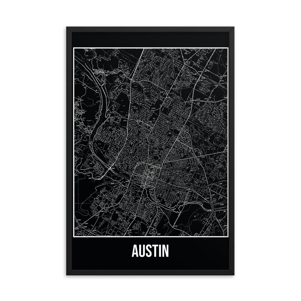 Retweet and Follow to enter our monthly #vintage #travel #poster #giveaway  #Framed Austin Antique Paper Map Black      #etsy #vacation