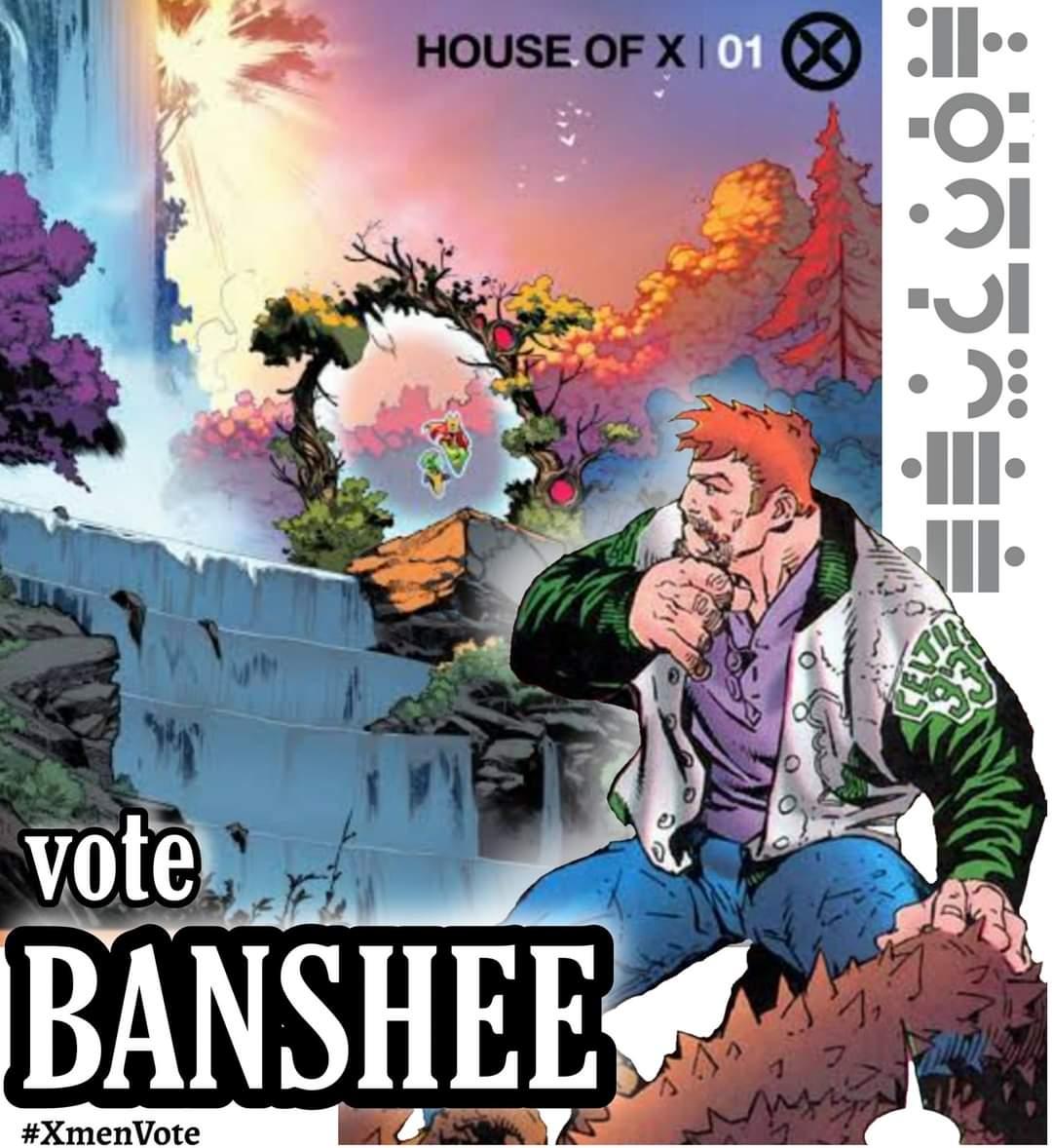 @multiversos Vote em Banshee. O time precisa de um pouco de sorte irlandesa. 😎🍀 #XMenVote