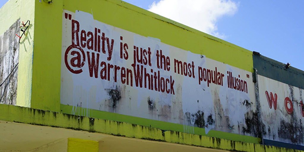 This is my tweet on the side of a building in Saipan.   #cool #reality #illusion #magic #positivethinking