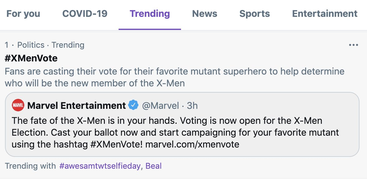 #XMenVote #☝️ Cast your vote 👇  #TeamBoomBoom 🦸♀️