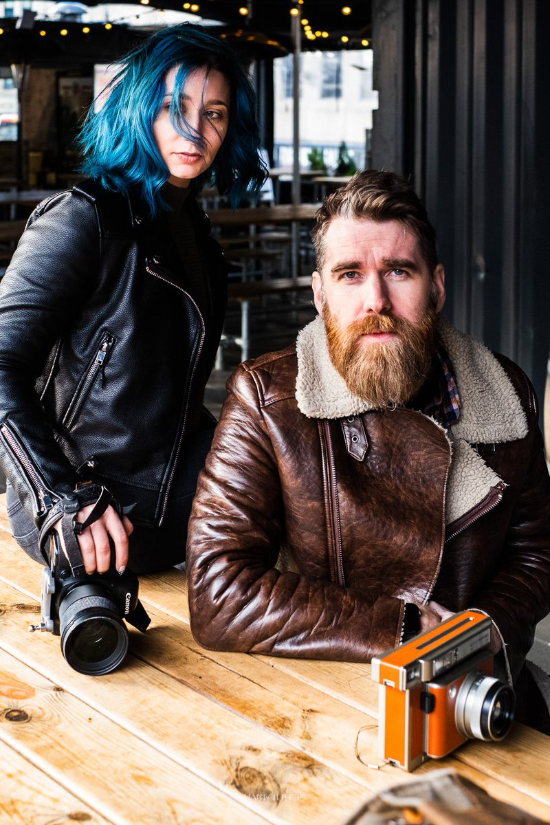 Portrait Week - Shaz and Chris - The amazing @chocchip_photo team. Check them out.  #fuji #portrait #cool #style #photographer