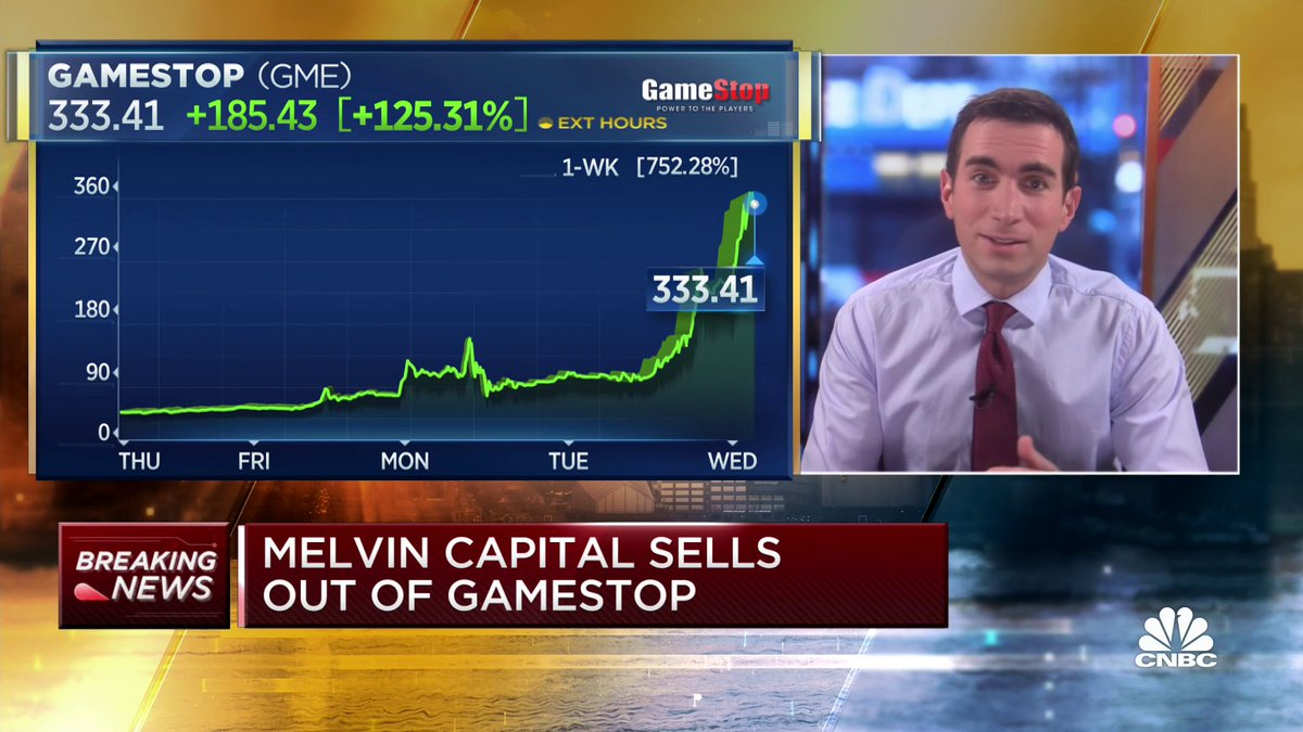 Replying to @SquawkCNBC: BREAKING: Melvin Capital closes out of its GameStop position $GME @andrewrsorkin reports: